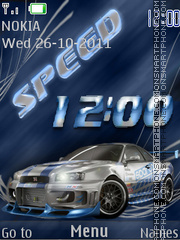 Sportcar SWF tema screenshot