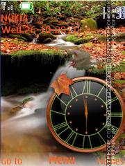 Autumn Clock theme screenshot