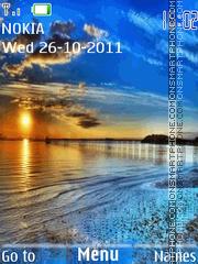 Ocean Sunset 02 theme screenshot