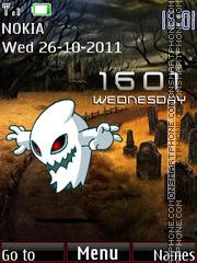 Скриншот темы Halloween Clock 02