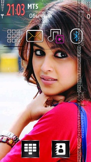 Genelia Dsouza 10 theme screenshot