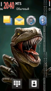 Dinosaur tema screenshot