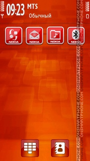 Red Pattern Icons tema screenshot