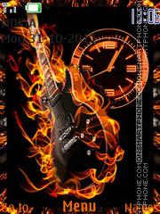 Fire guitar es el tema de pantalla