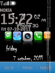 Iphone Style Clock theme screenshot