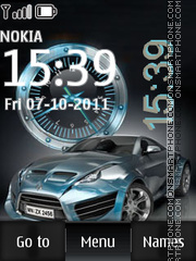 Sport Car Dual Clock tema screenshot