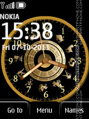 Zodiak Clock theme screenshot