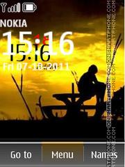 Alone Clock 01 theme screenshot