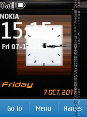 Analog Date Clock theme screenshot
