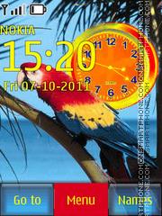 Parrot Clock 03 tema screenshot