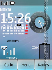 Iphone Calendar Battery theme screenshot