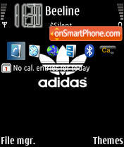 Adidas 01 theme screenshot