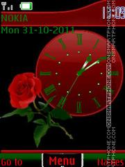 Скриншот темы Rose in green By ROMB39