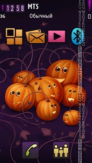 Pumkins party tema screenshot