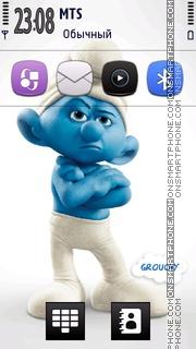 Скриншот темы Smurfs Cartoon Theme