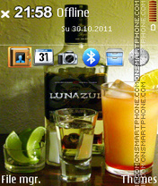 Tequila Lunazul 01 theme screenshot