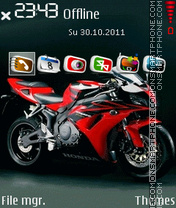 Honda Bike 01 theme screenshot