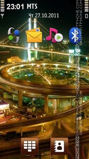 Shanghai at Night Theme-Screenshot