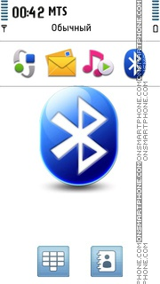 Bluetooth Logo tema screenshot