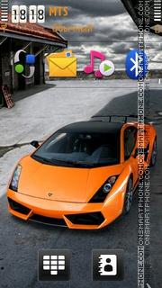 Скриншот темы Orange Lamborghini