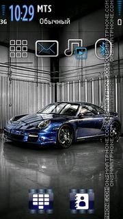 Blue Porsche 01 theme screenshot