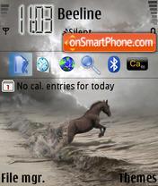 Falling Horse theme screenshot