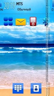 Blue Beach 01 tema screenshot
