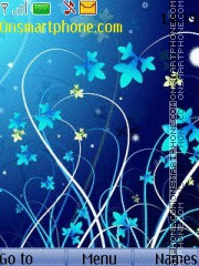 Blue Flowers Theme-Screenshot
