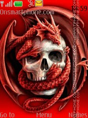Dragon vs Skull theme screenshot