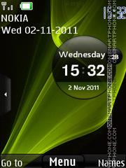 Скриншот темы Samsung Clock HD