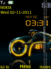 Tron theme screenshot