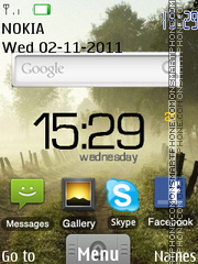 Google Android theme screenshot