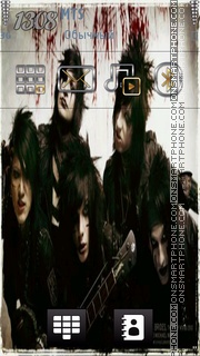 Black Veil Brides tema screenshot