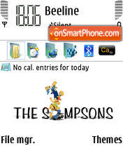 White Simpsons Theme theme screenshot
