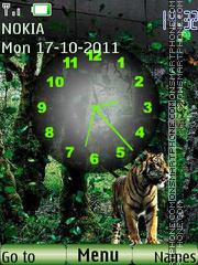 Tiger and Clock theme screenshot