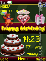 Happy Birthday Clock theme screenshot