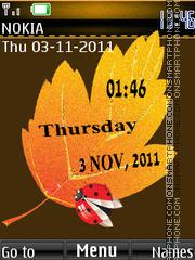 Скриншот темы Leaf Clock 04