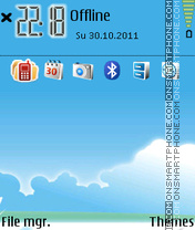 Bird Blue Vision tema screenshot