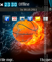Fire N Cold Ball theme screenshot