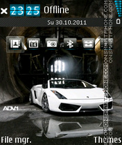 White Lamborghini 01 theme screenshot