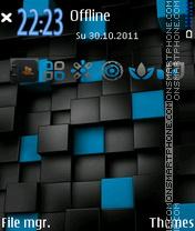 Скриншот темы Blue Cubes