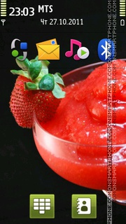 Strawberry Cocktail 02 theme screenshot