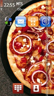 Pizza With Onion theme screenshot