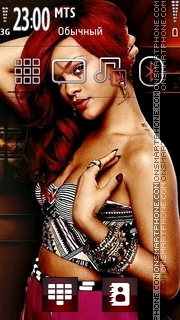 Скриншот темы Rihanna 11