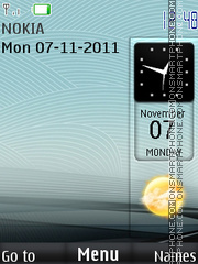 Wave clock theme screenshot