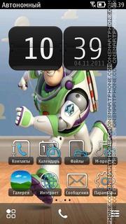 Buzz Light Year theme screenshot