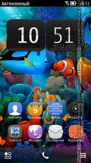 Aquarium 07 theme screenshot