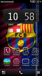 Fc Barcelona 21 theme screenshot