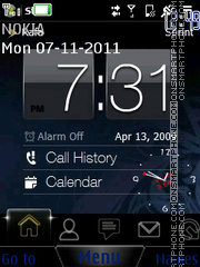 Clock N8 theme screenshot