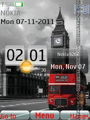 London Bus Htc theme screenshot